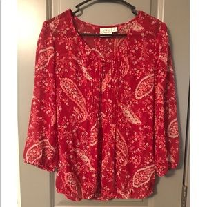 womens floral blouse SIZE MED